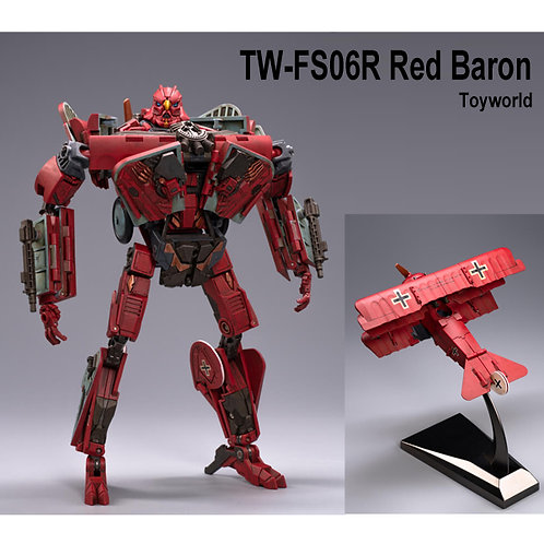 TW-FS06R RED BARON 紅色 雙翼機