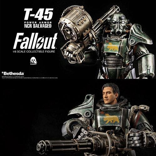 Threezero Fallout – 1/6 T-45 NCR Salvaged Power Armor Action Figure
