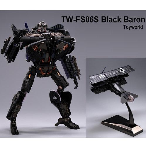 TW-FS06S BLACK BARON 黑色 雙翼機