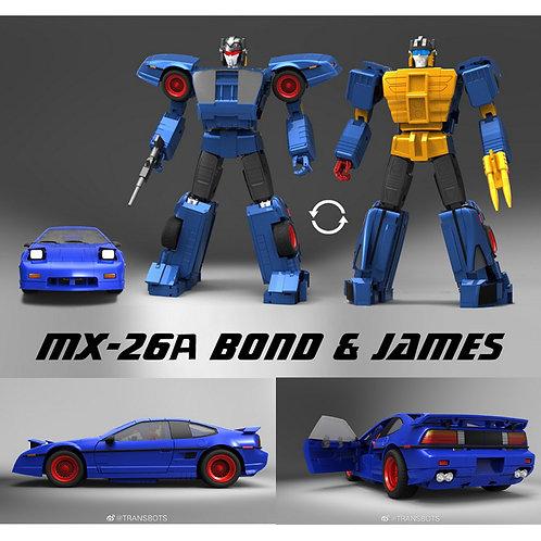 X-Transbots·X社 MX-26A Bond & James 雙面人 美版