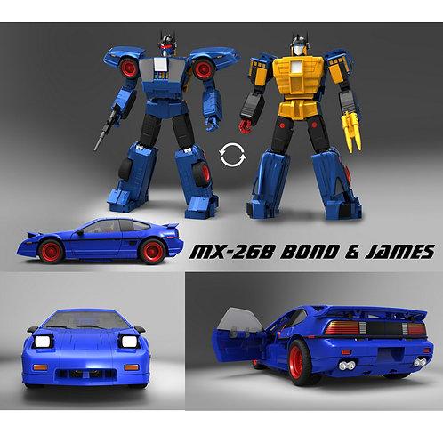 X-Transbots X社 MX-26B Bond & James 雙面人 日版
