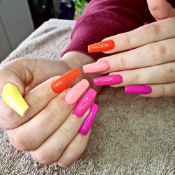Colourful Nail Extensions