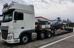 Transport eines Helikopter