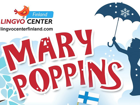"International language camps ""MARY POPPINS"" in Finland, in Jyväskylä."