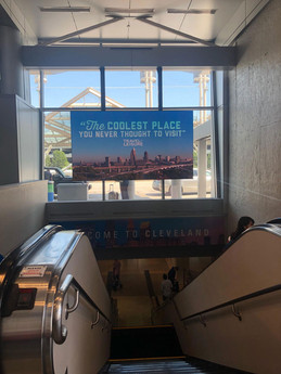 CLE Airport Sign
