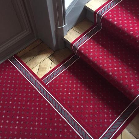 Tapis d'escalier Corde et Fleurettes