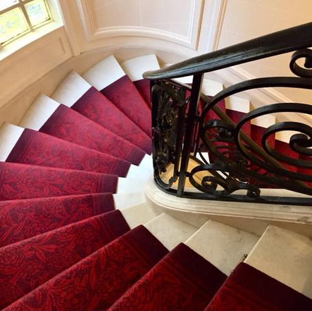 Tapis d'escalier Dessin Pivoines