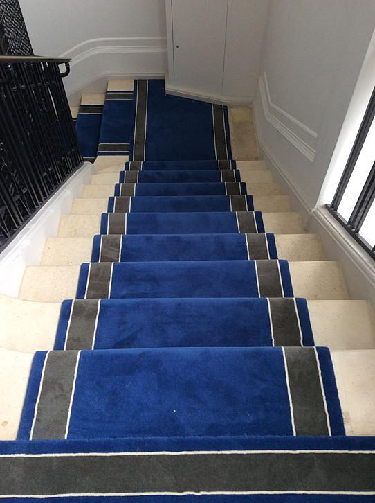 Batignolles tapis tapis d 39 escalier - Tapis d escalier contemporain ...