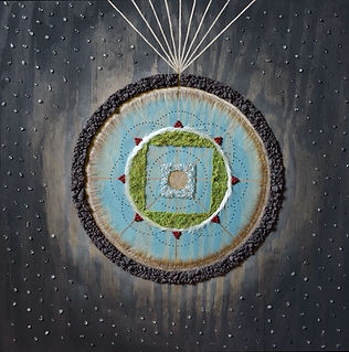 mandala, crystals, art