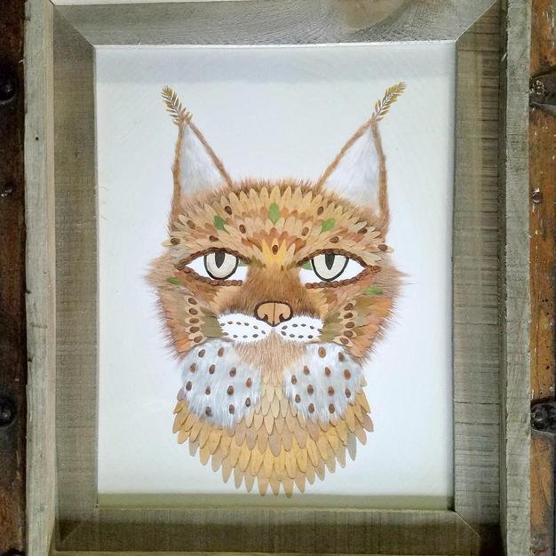 11x14 framed bobcat print