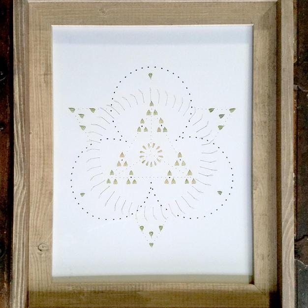 11x14 Framed Triangle Mandala