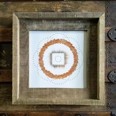 12x12 framed mandala print