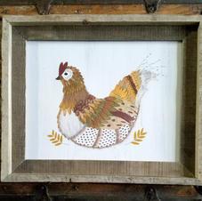 11x14 Framed Hen Print