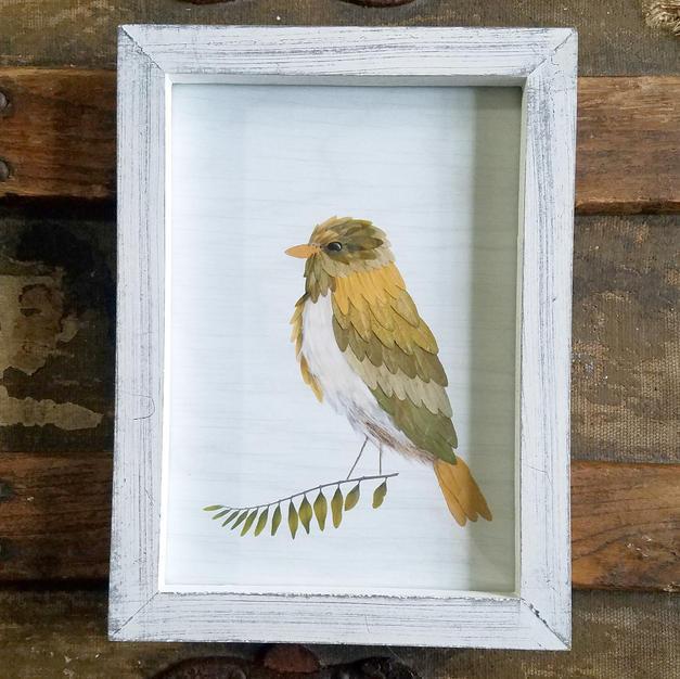 5x7 framed proud bird print