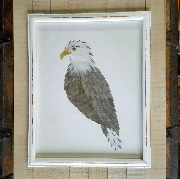11x14 framed eagle print