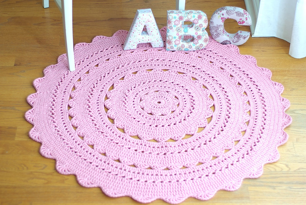 Round Baby Nursery Area Rug Dreamcatcher Collective Kits Crochet Rugs