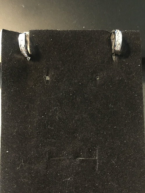 Creool oorbellen zirconia wit