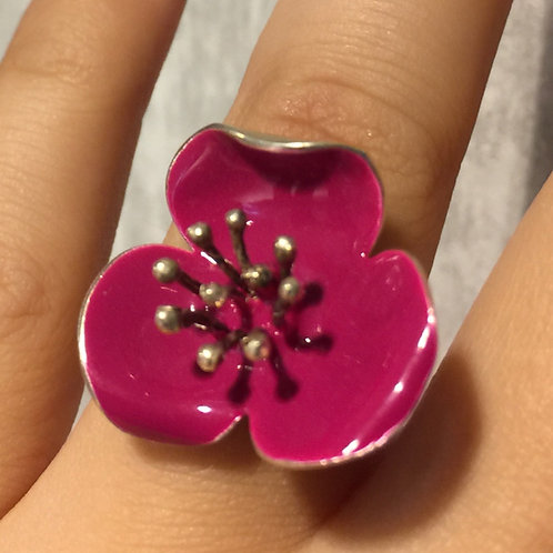 Roze roos ring Georgia Charal