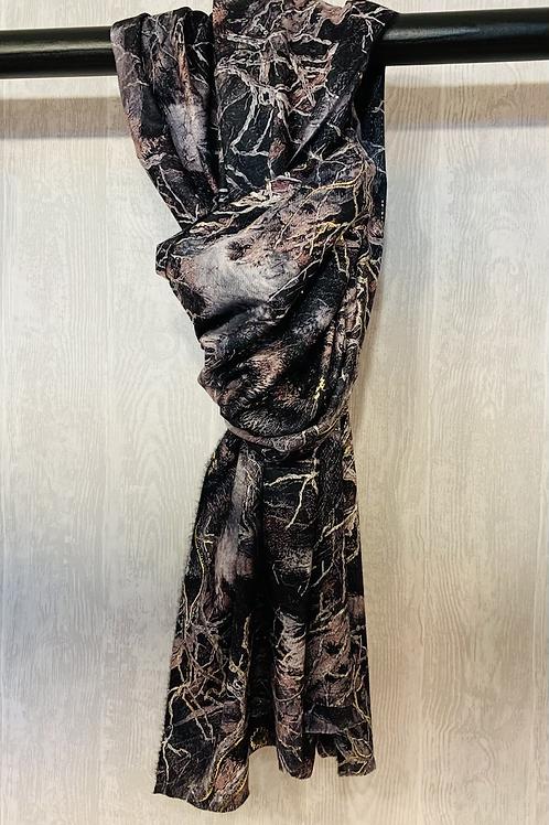 Warme sjaal met leuke print