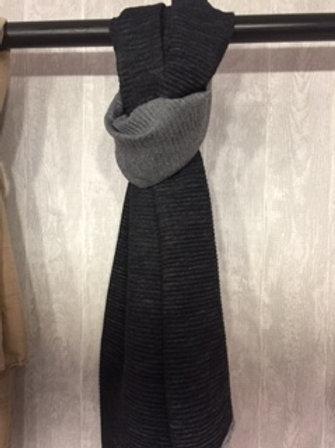 Warme sjaal Zwart/Grijs