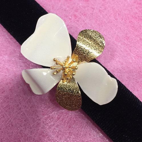 Grote bloem ring Catherine
