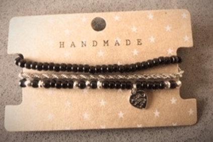 Armband setje Handmade Zwart