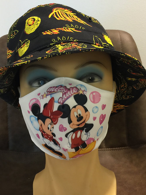 Mondmasker print Mickey & Minnie
