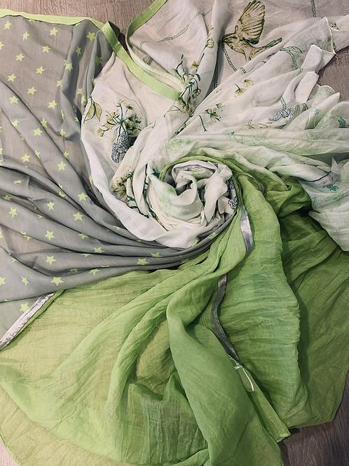Shanna sjaal groen