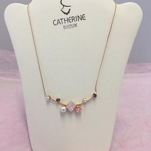 Ketting Catherine met parels en kristal