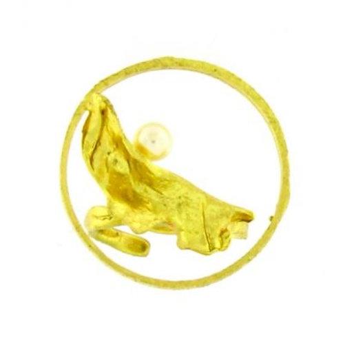 Ring OPUS goudkleur met parel