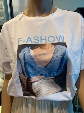 Witte t-shirt met leuke print
