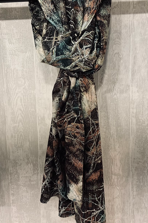 Sjaal groen/bruin