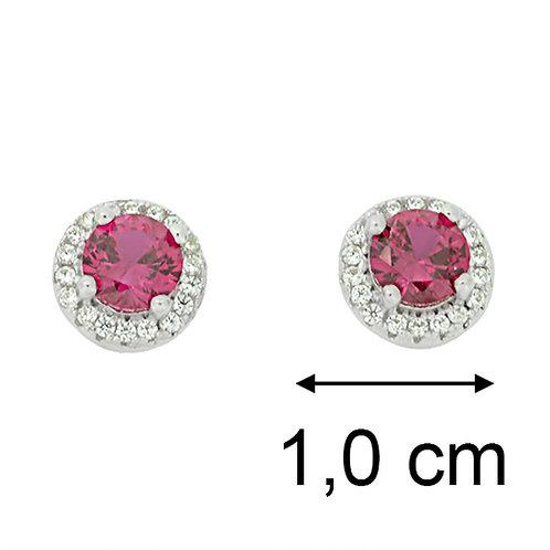 oorbel stekertjes met rode kristal
