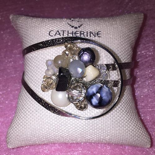 Zilverkleurige armband Catherine