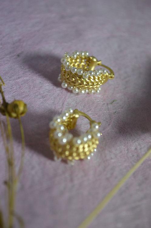Oorbellen ringen Parels/Goud