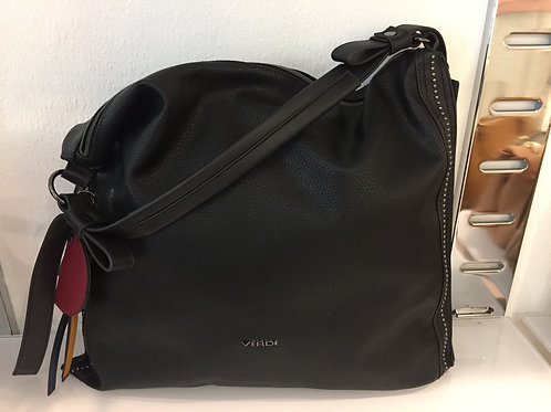 Zwarte daim handtas