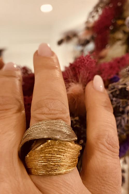 Tweekleurige ring Kalliope