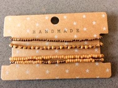 Armband setje Handmade in aardetinten