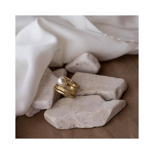 """Ring met parel """"handmade"""""""