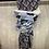 Thumbnail:  Handgemaakte Shanna sjaal donkerblauw met bloemen