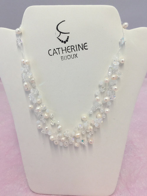 Ketting Catherine witte parel