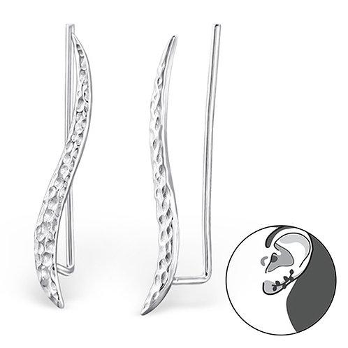 Oorbel / oorworm in zilver