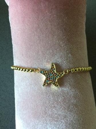 Kopie van Armbandje goudkleurig - ster