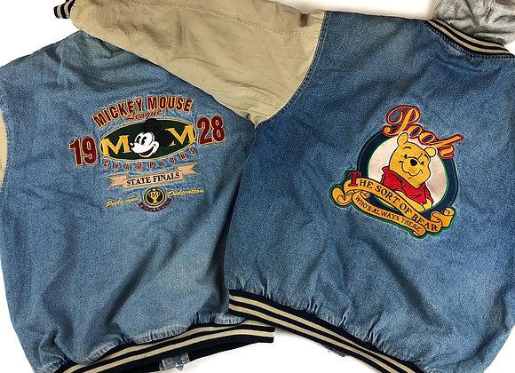 Vintage Baseball Denim Jacket