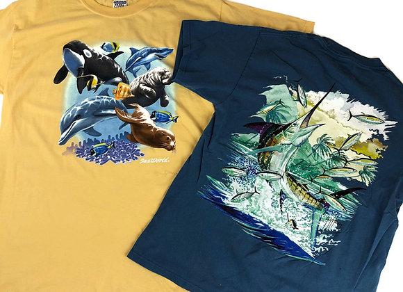 Vintage Graphic Print T-Shirts X50