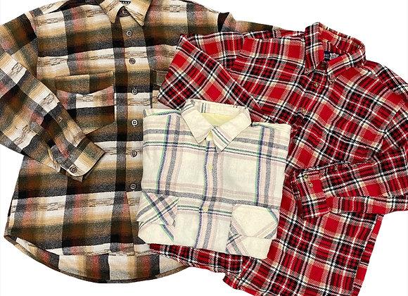 Heavy Flannel Shirts/Shackets