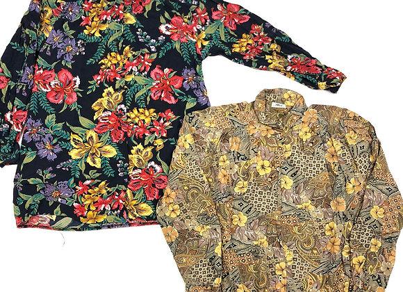 Italian Vintage Ladies Patterned Blouses