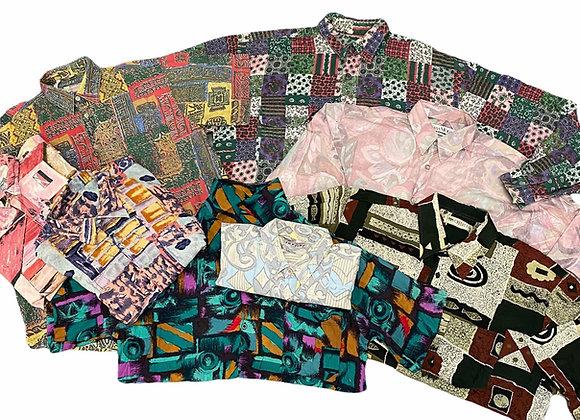 Vintage Crazy Print Shirts