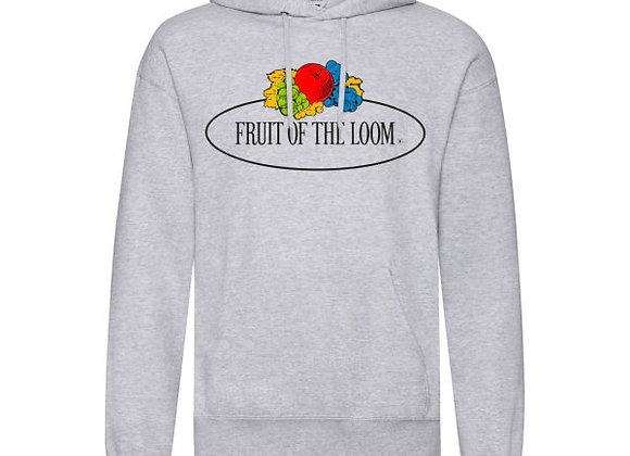 Fruit Of The Loom 'Vintage' Hooded Sweat with Big Logo