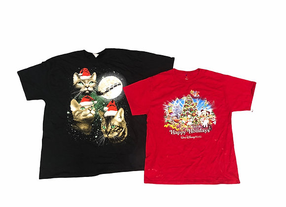 Christmas Printed T-Shirts X40